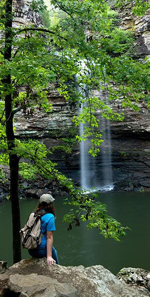 Hike down to Cedar Falls at Petit Jean State Park