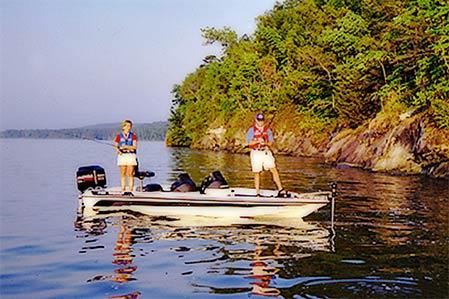 Fishing on Lake Dardanelle