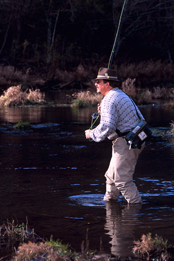Fly fishing the Big Piney